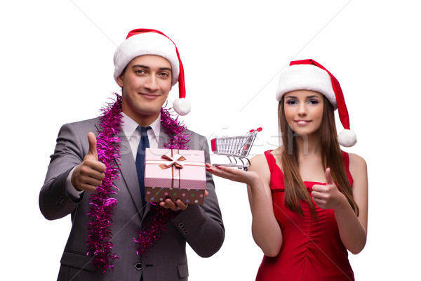 Pair in online christmas shopping concept Stock photo © Elnur