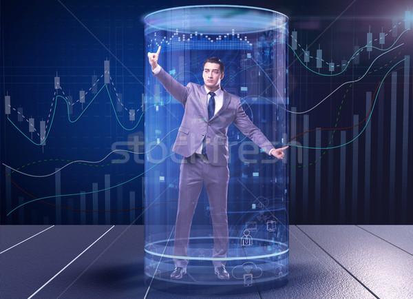 Człowiek giełdzie handlowy ceny pracy biznesmen Zdjęcia stock © Elnur