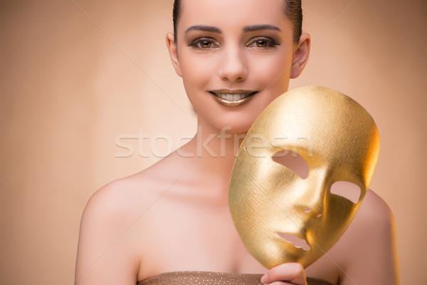 Maschera carnevale faccia moda teatro Foto d'archivio © Elnur