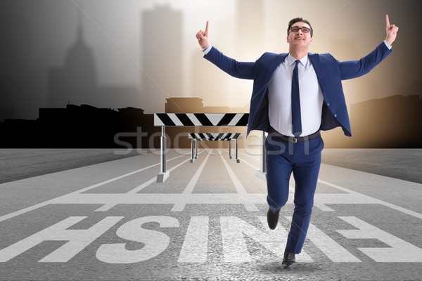 Businessman in ambition and motivation concept Stock photo © Elnur