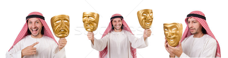 The arab in hypocrisy concept on white Stock photo © Elnur