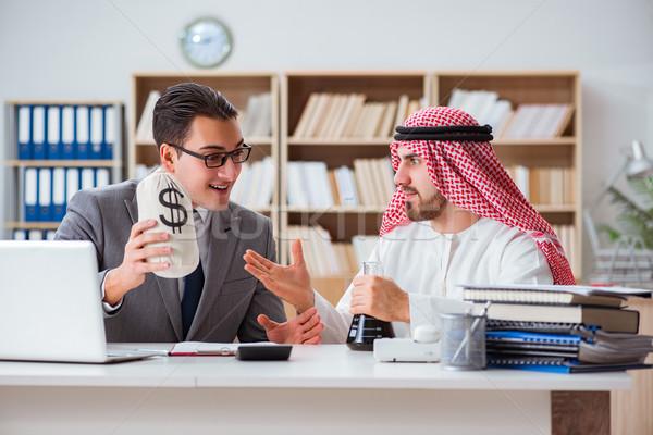 The diverse business concept with arab businessman Stock photo © Elnur