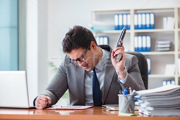 сердиться агрессивный бизнесмен служба компьютер человека Сток-фото © Elnur