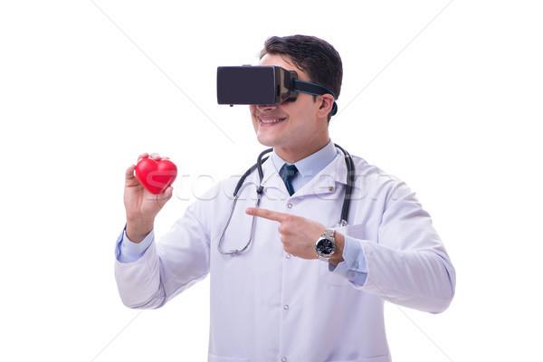 Lekarza faktyczny rzeczywistość zestawu odizolowany Zdjęcia stock © Elnur