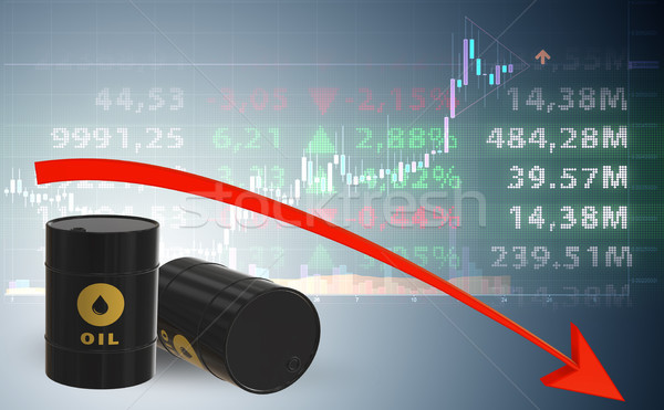 Concept of oil prices - 3d rendering Stock photo © Elnur