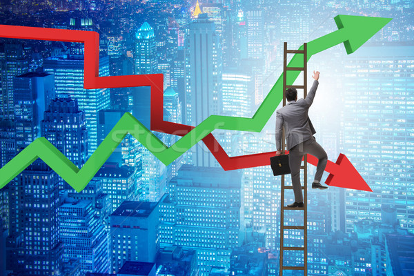 Business concept of both crisis and recovery Stock photo © Elnur