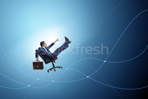 The businessman in economic growth concept Stock photo © Elnur