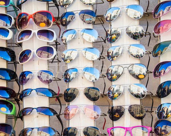 Sok napszemüveg kirakat bolt tengerpart sport Stock fotó © Elnur