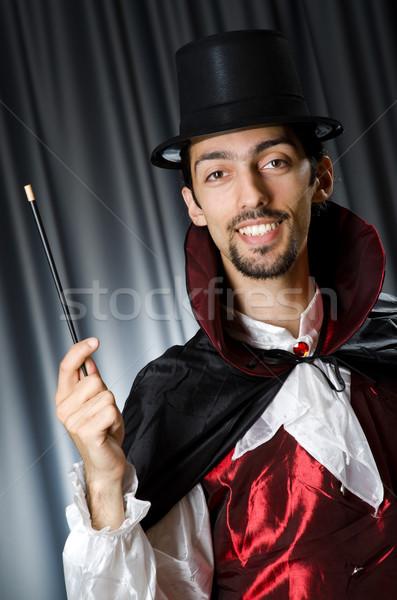 маг темно комнату стороны улыбка костюм Сток-фото © Elnur