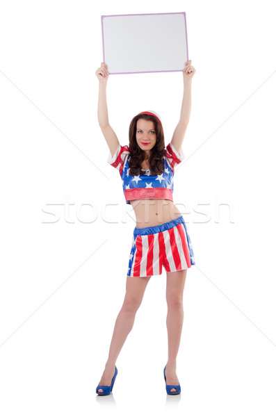 Woman boxer in uniform with US symbols Stock photo © Elnur