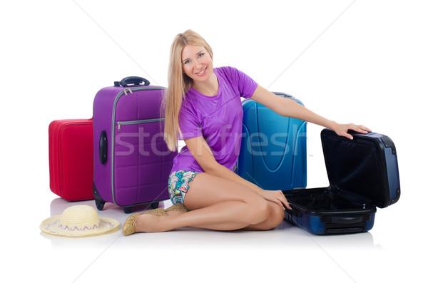Femme Voyage vacances d'été affaires travaux affaires Photo stock © Elnur