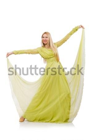Om rochie de culoare alba izolat alb fată Imagine de stoc © Elnur
