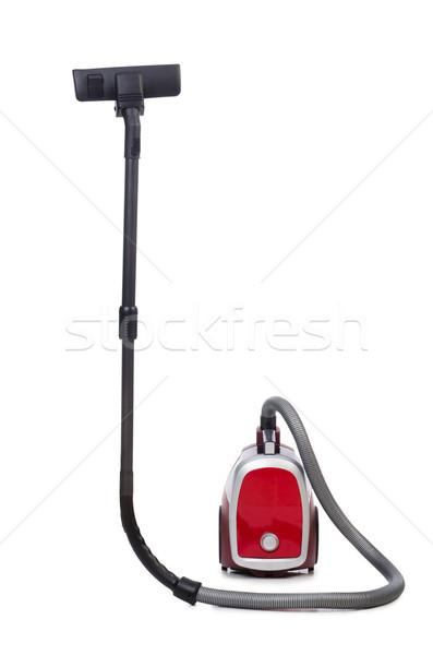 Aspirador de pó isolado branco casa vermelho elétrico Foto stock © Elnur
