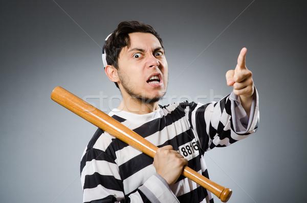 Grappig gevangenis bewoner sport recht leuk Stockfoto © Elnur
