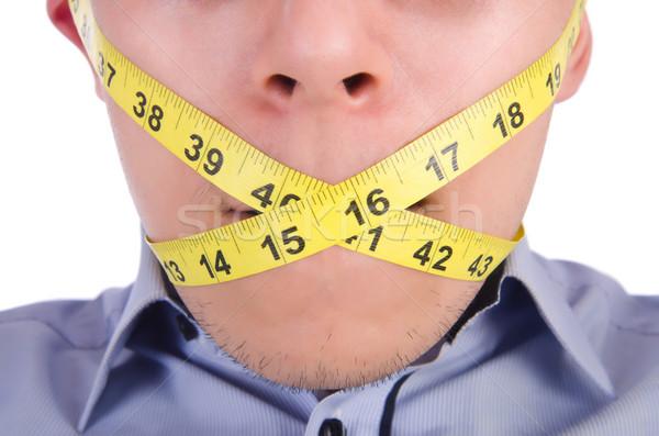 человека сантиметр диеты тело здоровья жира Сток-фото © Elnur