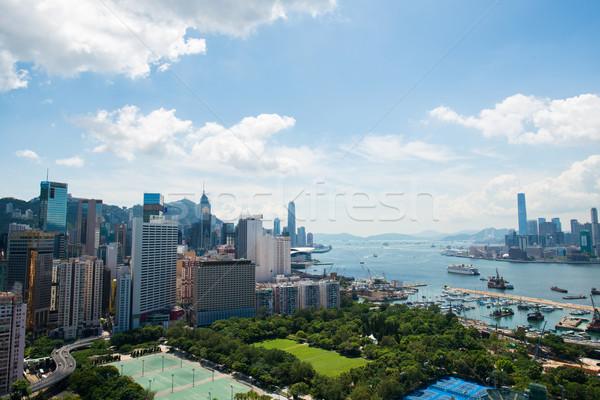 Vista Hong Kong día cielo edificio ciudad Foto stock © Elnur