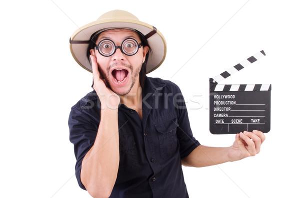 男 サファリ 帽子 狩猟 ビデオ ゲーム ストックフォト © Elnur
