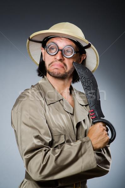 смешные Safari охотник природы очки весело Сток-фото © Elnur