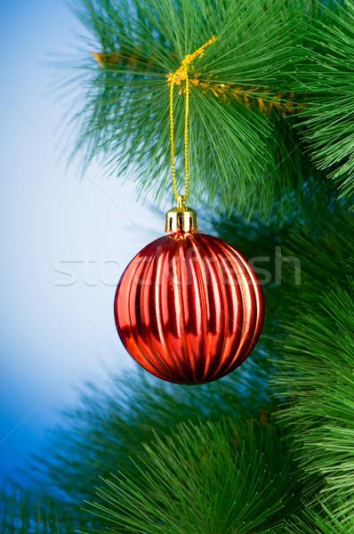 Navidad decoración fondo espacio pelota Foto stock © Elnur