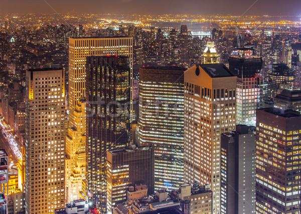 有名な 高層ビル ニューヨーク 1泊 ビジネス 空 ストックフォト © Elnur