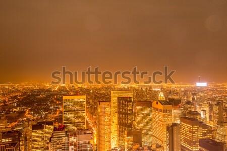 Stok fotoğraf: Singapur · gece · iş · gökyüzü · ofis · Bina