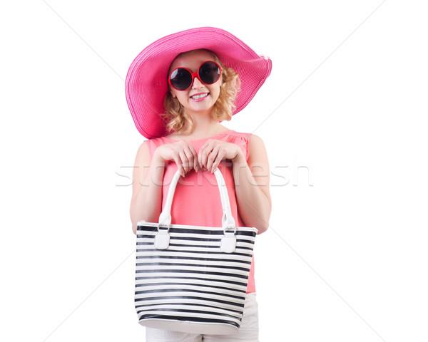 Frau Tasche Mode Strand Kleidung weiß Stock foto © Elnur