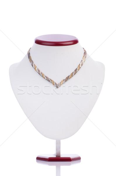 Nice ожерелье изолированный белый фон металл Сток-фото © Elnur