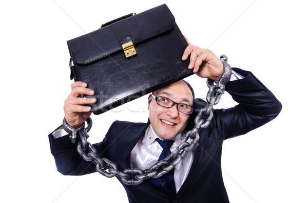 Businessman handcuffed isolated on white Stock photo © Elnur