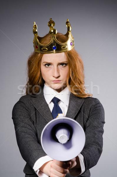 королева бизнесмен смешные бизнеса женщину Сток-фото © Elnur