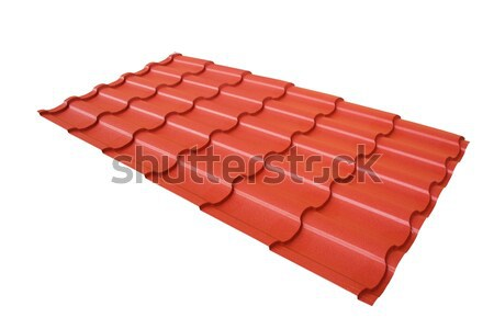 Roof tile isolated on the white Stock photo © Elnur