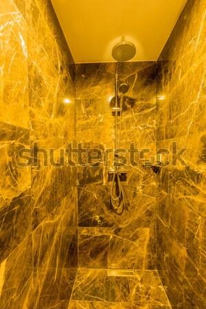Nowoczesne łazienka wnętrza wanna szkła zdrowia Zdjęcia stock © Elnur