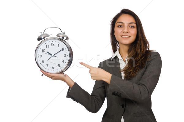 деловая женщина часы отсутствующий Сроки женщину бизнесмен Сток-фото © Elnur