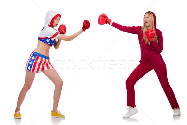 Nő boxeralsó izolált fehér lány nők Stock fotó © Elnur