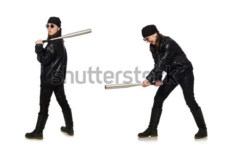 Young man with gun isolated on white Stock photo © Elnur