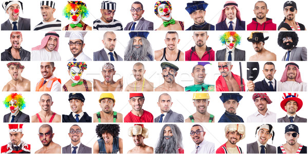 Kolaż wiele twarze model twarz szczęśliwy Zdjęcia stock © Elnur