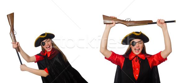 Vrouw piraat witte hand Stockfoto © Elnur