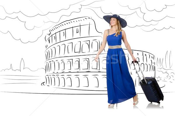 若い女性 旅行 ローマ イタリア 少女 幸せ ストックフォト © Elnur