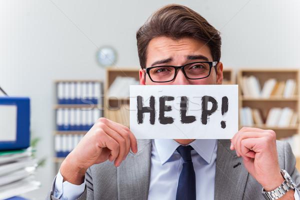 Occupato imprenditore help lavoro computer Foto d'archivio © Elnur