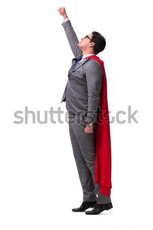 Super hero businessman isolated on white  Stock photo © Elnur