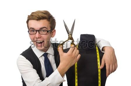 бизнесмен заложник вверх веревку безопасности пушки Сток-фото © Elnur