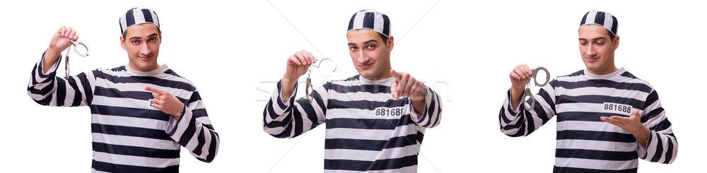 Man prisoner isolated on white background Stock photo © Elnur