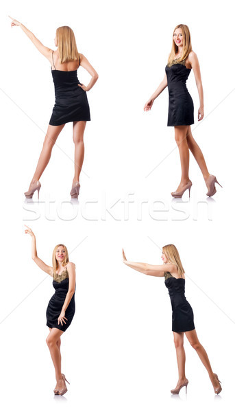 Tall model isolated on the white background Stock photo © Elnur