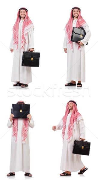 арабских человека изолированный белый бизнесмен азиатских Сток-фото © Elnur