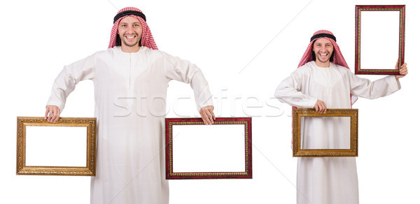 Arabes cadre photo blanche affaires heureux cadre Photo stock © Elnur