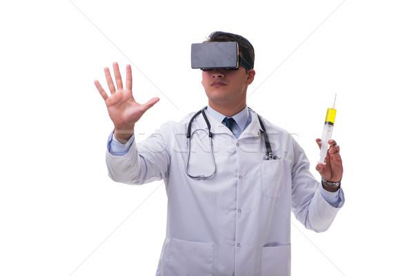 Medico indossare virtuale realtà auricolare isolato Foto d'archivio © Elnur