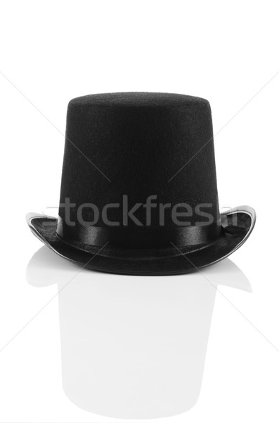 Siyah üst şapka yalıtılmış beyaz moda Stok fotoğraf © Elnur