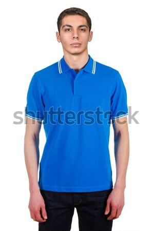Male model with shirt isolated on white Stock photo © Elnur