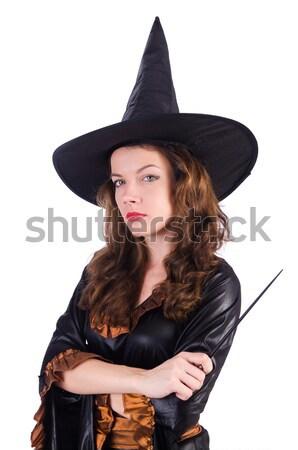 Stockfoto: Vrouw · piraat · pistool · geïsoleerd · witte · hand
