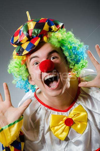 Funny clown humor uśmiech zabawy hat Zdjęcia stock © Elnur