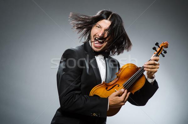 Uomo violino giocatore divertimento suono maschio Foto d'archivio © Elnur